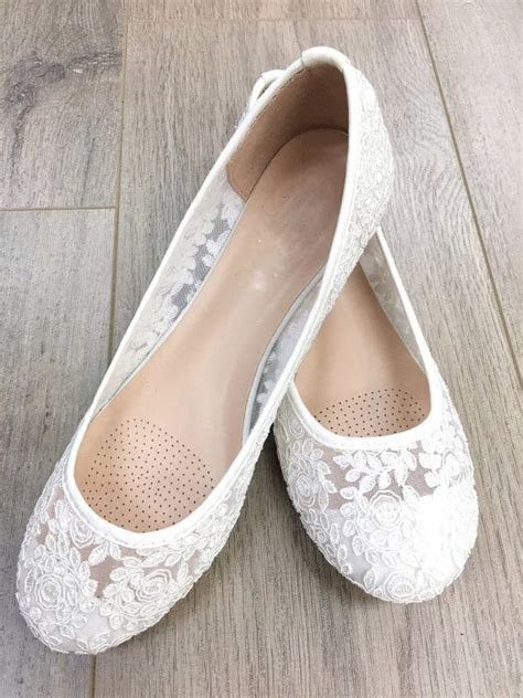 lace wedding flats ideas  pinterest