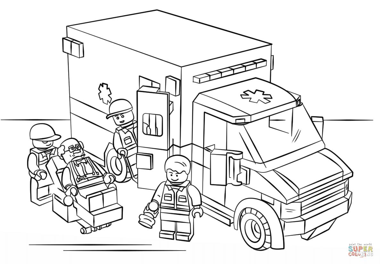 er sur la Ambulance Lego coloriages pour visualiser la version imprimable ou colorier en ligne patible avec les tablettes iPad et Android