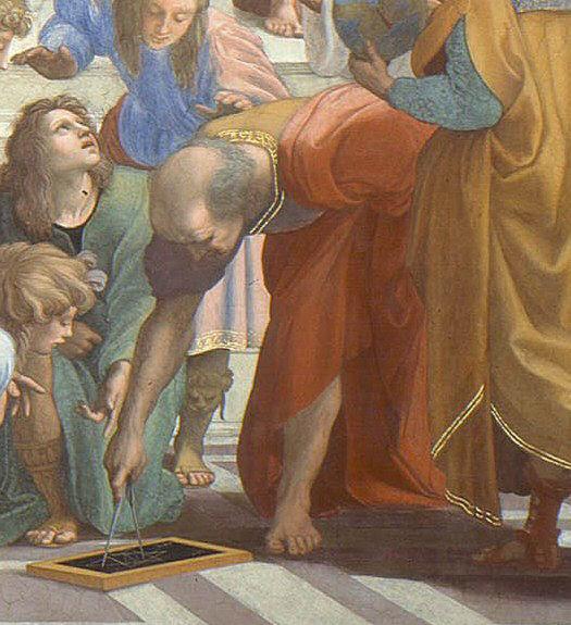 A Escola de Atenas, uma foto de amigos