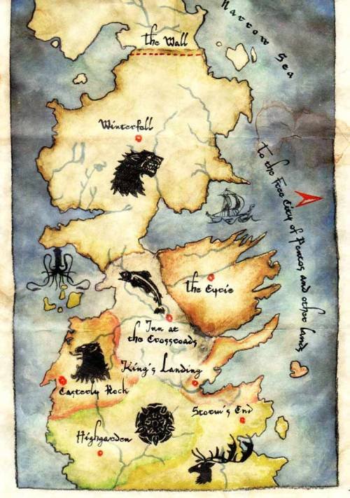 game of thrones map of westeros. Tagged westeros game of