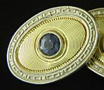 Art Deco sapphire cufflinks. (J9311)