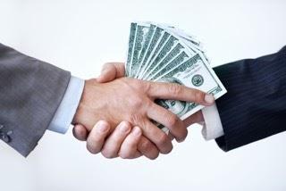 dollars handshake