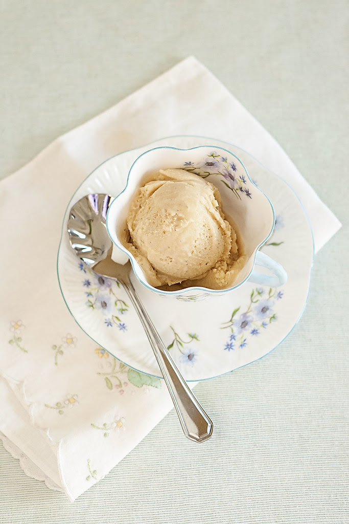 buttermilk espresso ice cream - last of it