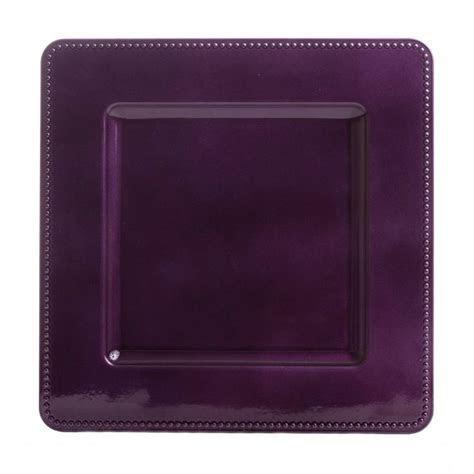Leia Square Purple Charger Plates (BULK 36 pieces) = $1.00