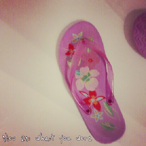 Nov 21: what you wore .. I went swimming today #fmsphotoaday #pink