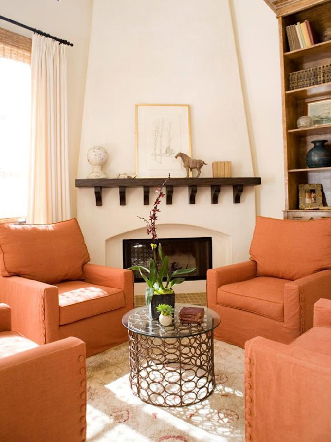Popular Of Living Room Design Orange