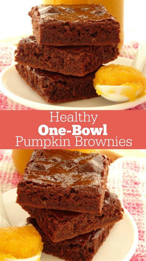 bowl healthy pumpkin brownies recipe  quick  easy