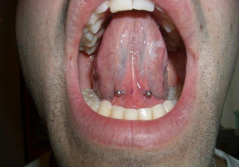 Tongue Web Piercing