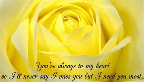 You?re Always In My Heart  Free Miss You eCards