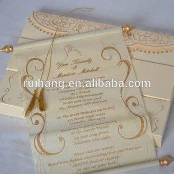 Handmade Stylish Unique Scroll Wedding Invitations Card