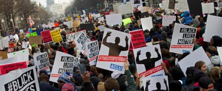 Miles de personas marchan en EEUU por los derechos civiles y contra la violencia policial