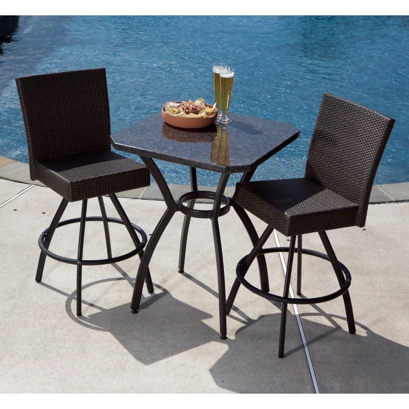 Alfresco Vento High Wicker Bistro Piece Natuzzi Furniture