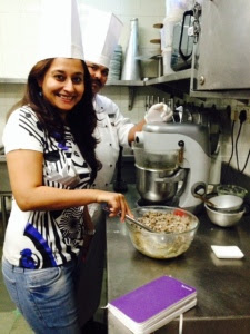 Crafting the cake with Chef Sunil