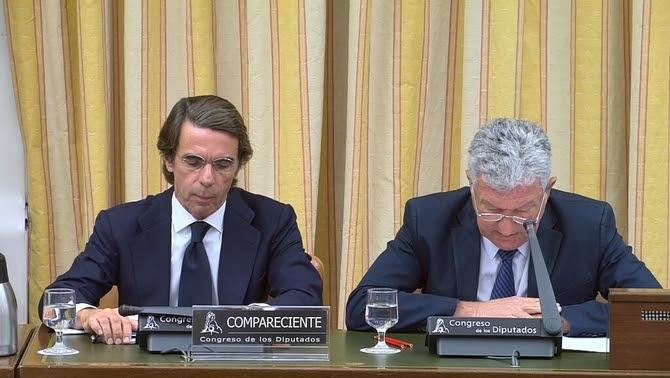 José María Aznar compareix davant la comissió d'investigació del Congrés