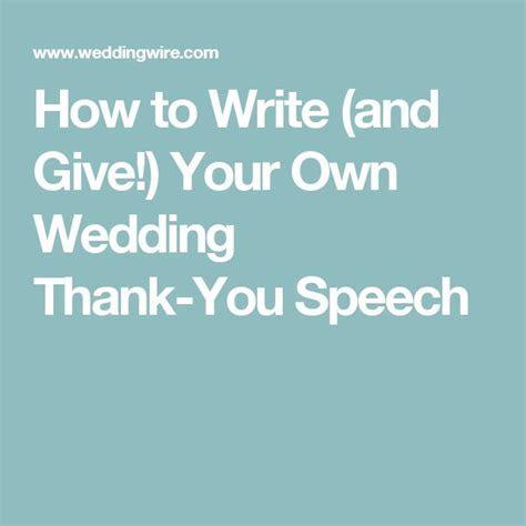 Best 25  Thank you speech wedding ideas on Pinterest