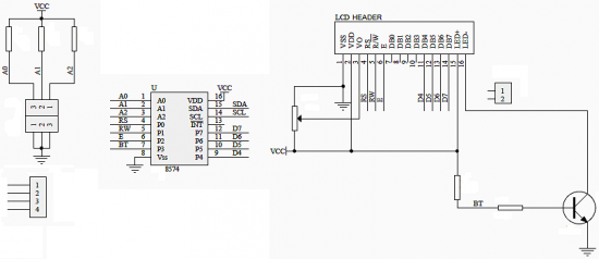 reference circuit diagram of the lcd backpack