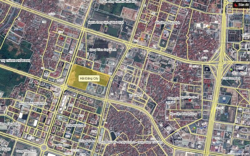 Vị trí dự án chung cư Hải Đăng City