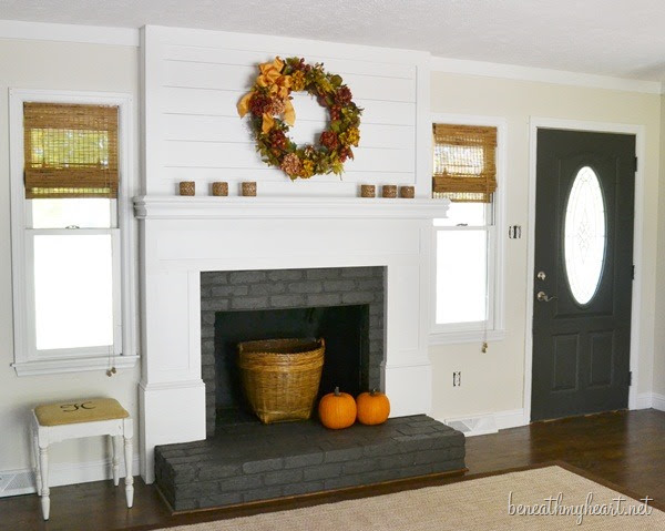 """fireplace makeover """"after"""""""