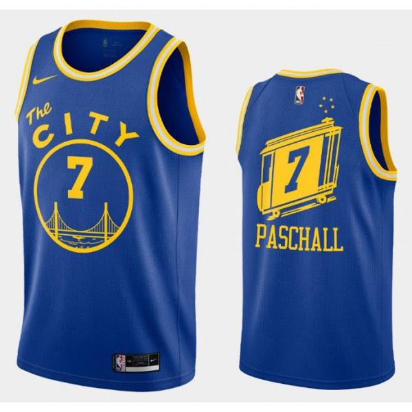 Golden State Warriors Trikot Eric Paschall 7 2020-2021 Nike Hardwood Classics Swingman - Herren