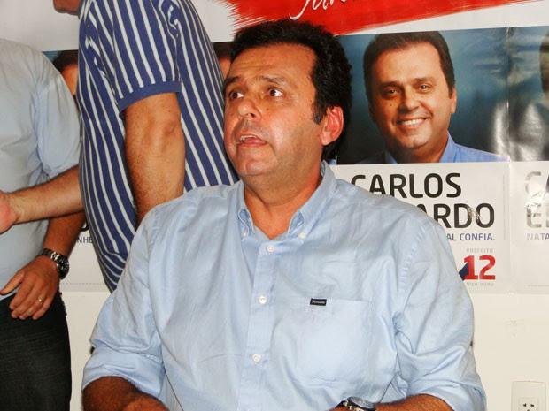 Carlos Eduardo (PDT), prefeito eleito em Natal (Foto: Ricardo Araújo/G1)