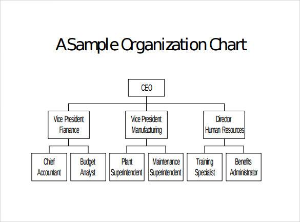 Sample Blank Organizational Chart - 8+ Documents in PDF