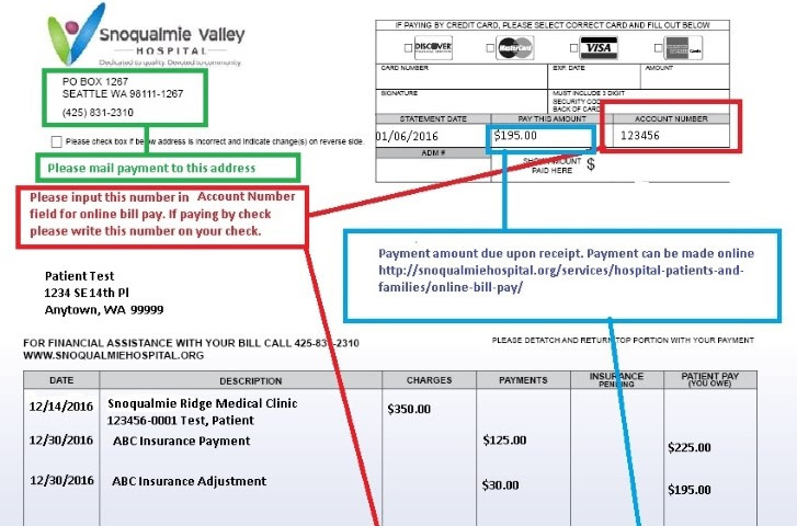 Online Bill Pay - Snoqualmie Valley Hospital