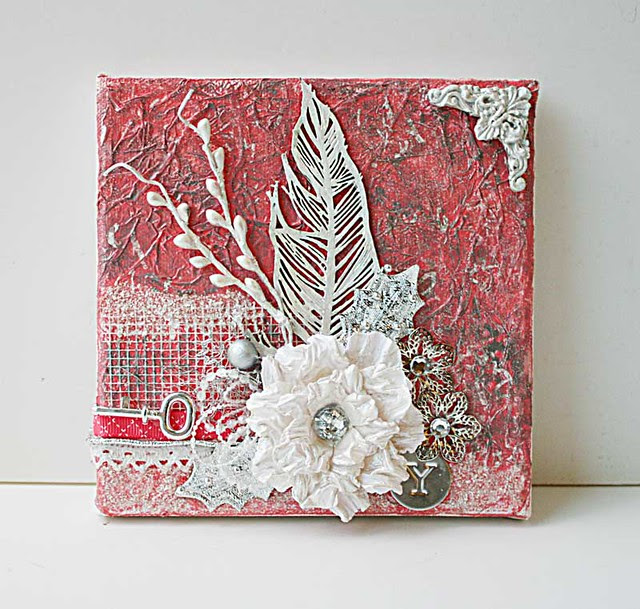 Coral-mixed-media-canvas