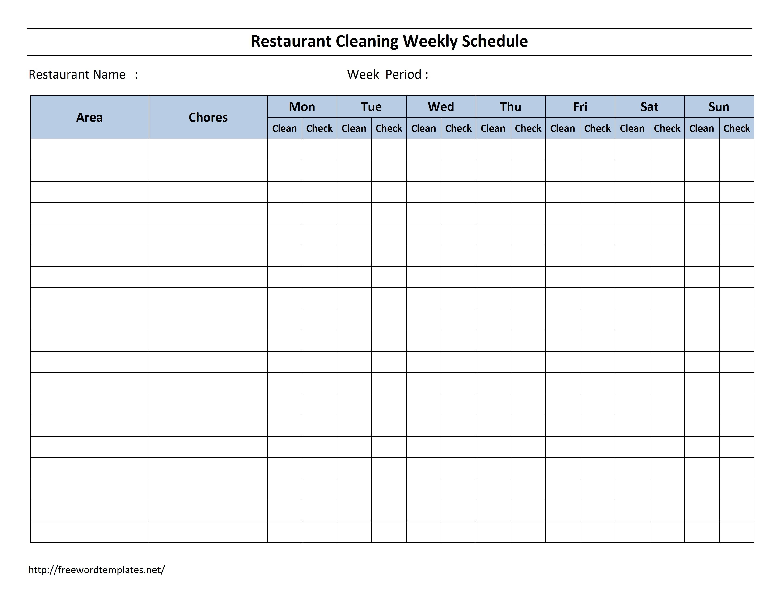 1000+ ideas about Cleaning Schedule Templates on Pinterest | House ...