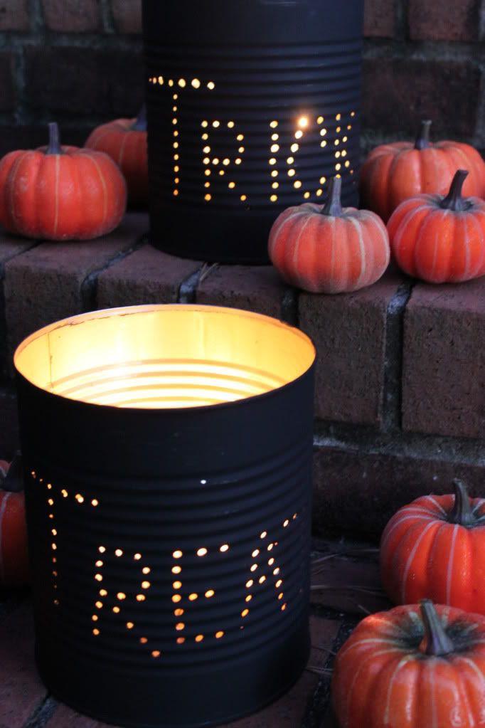 DIY:: So Cute ! Fall Tin can luminaries Tutorial