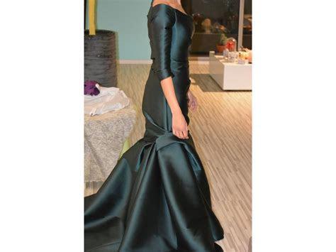 Monique Lhuillier Asymmetrical Off Shoulder Dress Wedding