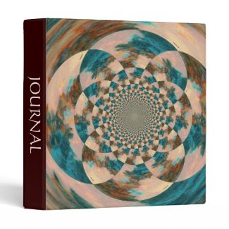 Vision Quest Abstract Design Three Ring Binder