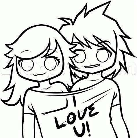 draw  boyfriend  girlfriend step  step