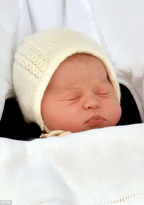The new baby princess was welcomed into the world at 8.34am on May 2, 2015