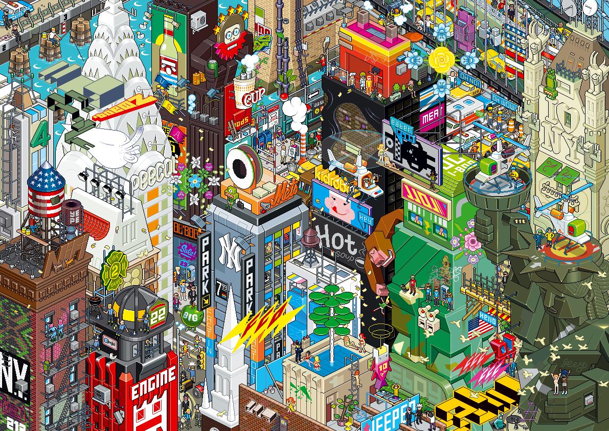 Eboy ville pixel art New york Les villes pixelisés deBoy  design art