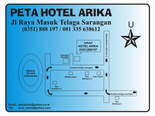 peta arika hotel
