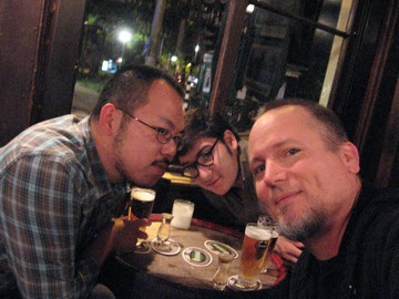 Johnny Chang, Taylan Susam and me...having oude genever
