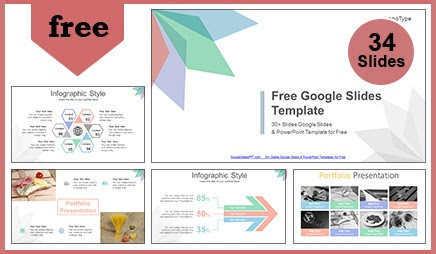 Abstract Background Leaves Google Slides Template