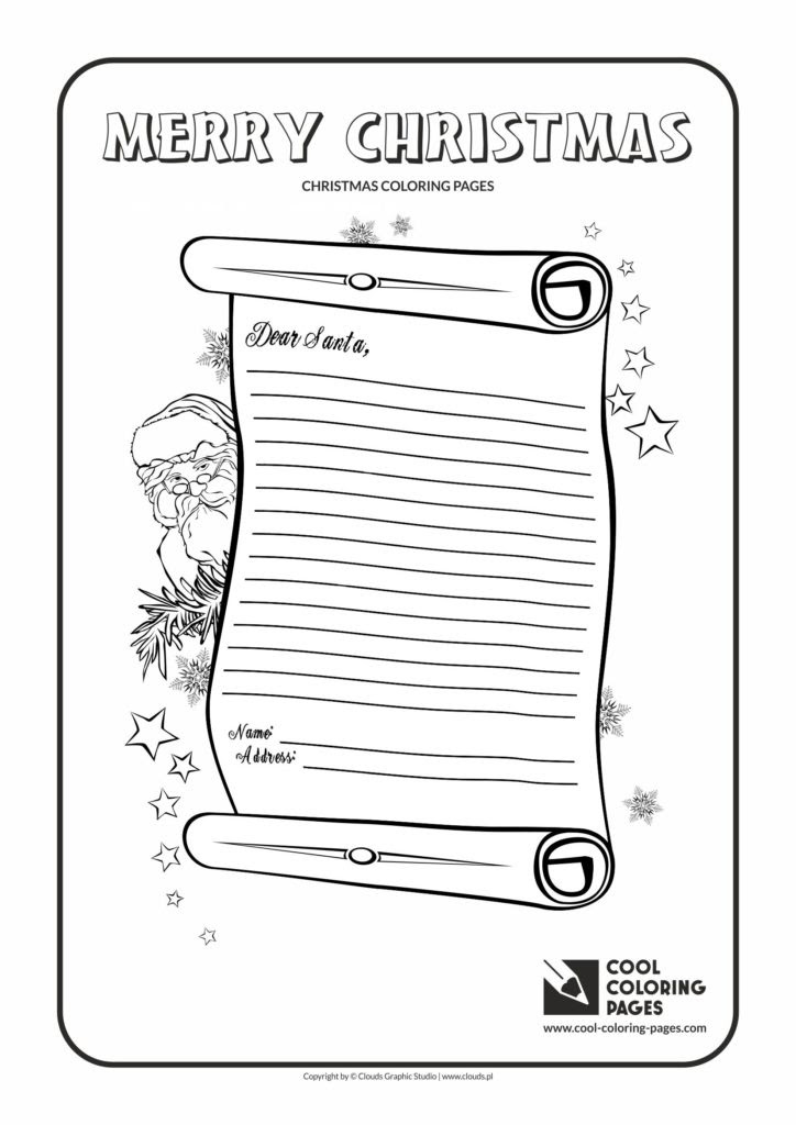 Cool Coloring Pages Letter to Santa Claus no 2 coloring ...