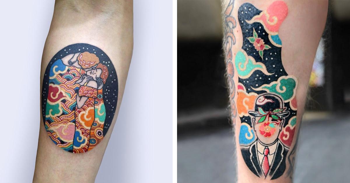 South Korean Tattoo Artist Gives Classic Fine Art An Oriental Twist