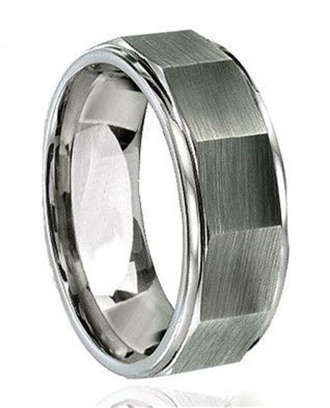 A 8mm tungsten carbide ring that sums it up for a man. The