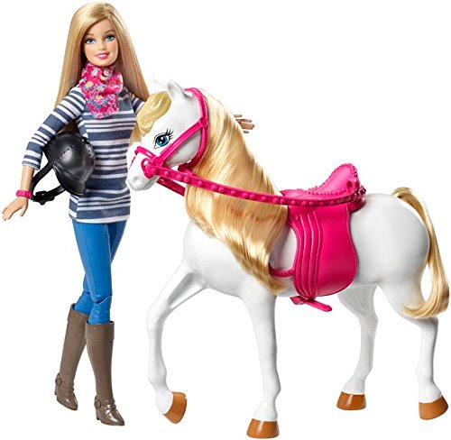 Barbie Doll and White Horse Set