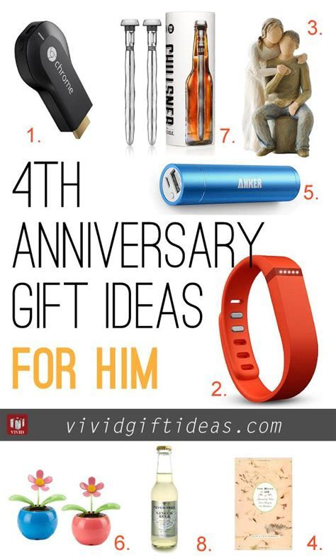 4th Wedding Anniversary Gift Ideas   Anniversary Gift