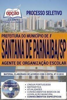 Apostila Processo Seletivo Prefeitura de Santana de Parnaíba 2018 | AGENTE DE ORGANIZAÇÃO ESCOLAR