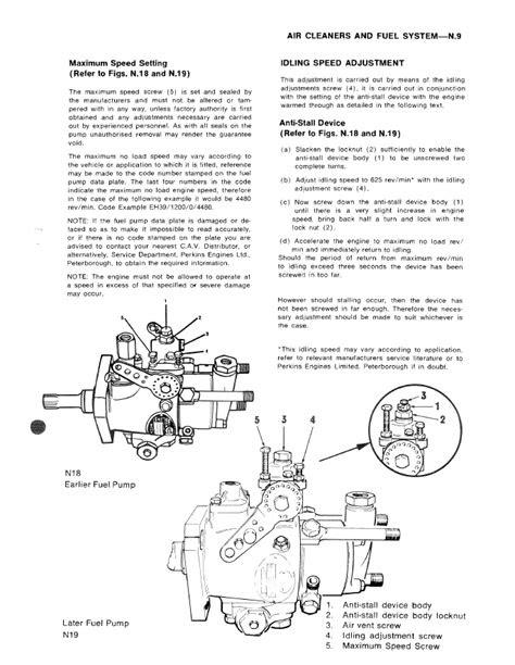 Perkins Diesel Engines 4.108 Series Parts And Workshop