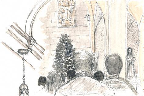 Christmas Eve Mass in Mystic, CT, 2010