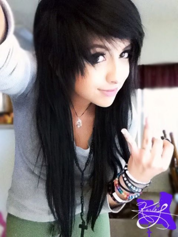 Beauty Hairstyle Emo Hairstyle Girl