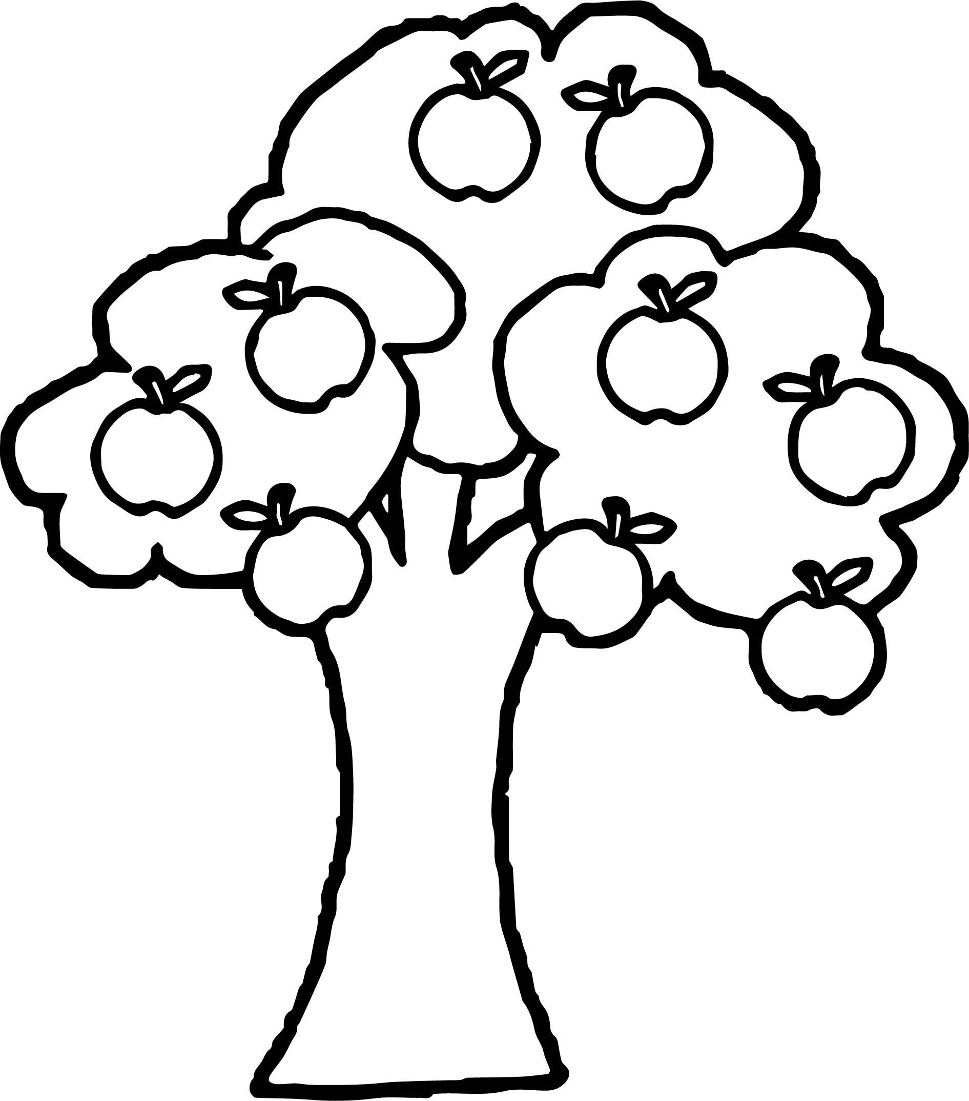 Harvests Two Kids Harvests Apple Tree Coloring Pages Two Kids