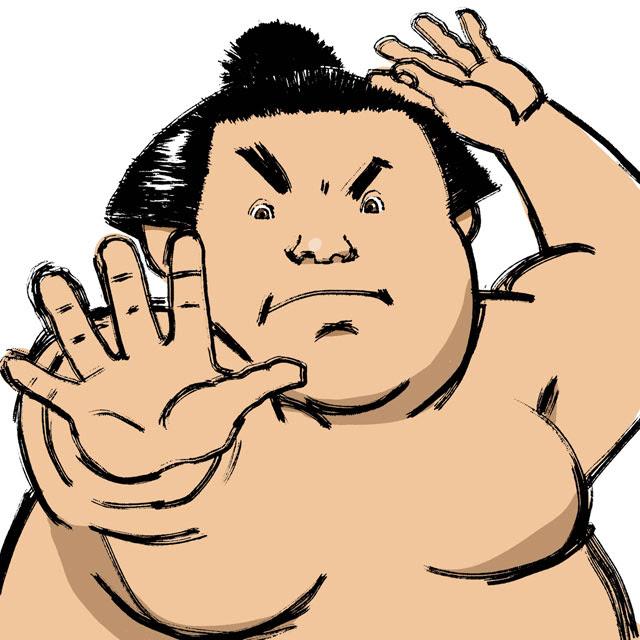 イラストレーター絵仕事 界屋さかいやイラスト制作ブログ お相撲さん
