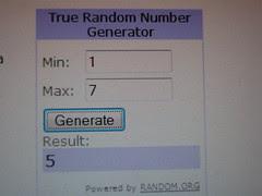 Random number generator 001