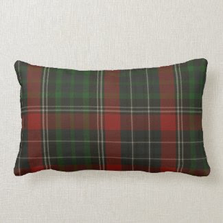 Traditional Green & Red Stuart Tartan Plaid Pillow